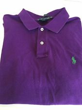 Ralph Lauren Purple Classic Fit Short Sleeve Polo Boys Xl
