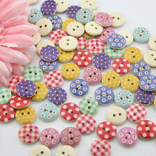 100pcs Mixed Wooden Buttons in Bulk Buttons for Crafts Button Painting Buttons