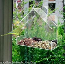 Window bird feeders CLEAR GLASS WINDOW VIEWING Hanging Suction