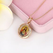 Free Shipping Mens 18k Yellow Gold Filled Jesus cross Pendant Necklace Jewelry