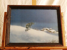 Mid Century 'THE LONE WOLF' Alfred Kowalski Vintage Lithography Print