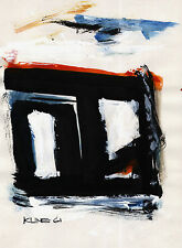 FRANZ KLINE  - SIGNED - DRAWING ON OLD ORIGINAL PAPER