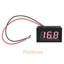 "DC 3.2-30V Voltmeter 0.56"" LCD Red LED Digital Panel Volt Meter Voltage Two Wire"
