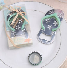 Free Shipping Starfish Design Blue Flip-Flop Bottle Opener Wedding Party Favors