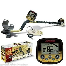 """Fisher New Gold Bug Pro Metal Detector 2 Coil Combo 5"""" & 10"""" Waterproof DD Coils"""