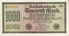 RARE GERMAN PAPER MONEY 1000 REICHSMARK BANKNOTE, 1922