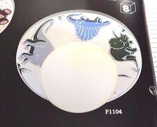 BECKER FUN LITES F1104 Dinosaur Bedroom 1-Light CEILING FIXTURE White Globe NEW