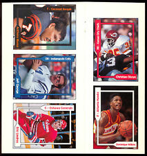 1991 POCKET PRICE GUIDE UNCUT SHEET 5 CARD SET NM DOMINIQUE WILKINS ERIC LINDROS