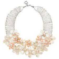 Collana Ottaviani Bijoux con fiori in cristalli, madreperla e perle 480001