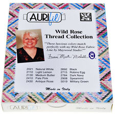 AURIFIL QUILT THREAD-50 WT- Wild Rose Collection Ten (10) 220 yard spools MM5010