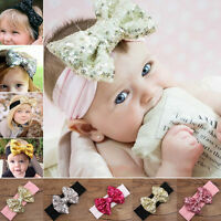 Baby Kids Girls Infant Flower Bow Hairband Turban Knot Rabbit Headband Headwrap