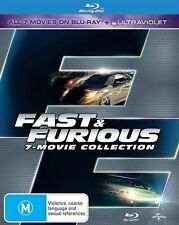 Fast and Furious Complete 1 2 3 4 5 6 7 Blu Ray Box Set RB The fast The Furious