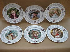 "Set 6 Royal Doulton ""Villancicos"" placas colectoras de ~ 1983-88 ~ China inglés"