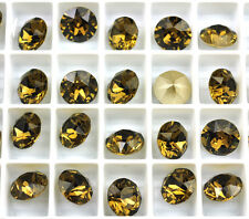 12 Smoky Quartz 1088 Swarovski Crystal Chaton Stone SS39 Foiled 8MM