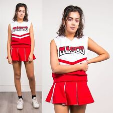 VINTAGE 90'S CHEERLEADER V-NECK TOP HIGH SCHOOL USA AUTHENTIC RETRO TOP 12