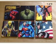 3rd Batch & Set Of 6 Superhero-Marval Canvas Pictures 6 X 6 Inch Each Picture