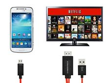 Micro MHL To HDMI HDTV Adapter 11 Pin Cable For Samsung Galaxy S5 SV i9600