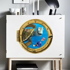 Removable Finding Nemo Submarine Wall Stickers Vinyl 3D Window Mural Room Decor