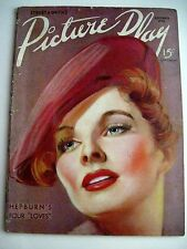 """Nov.1936 Issue of """"Picture Play"""" Magazine -  Katharine Hepburn on Cover *"""