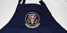 "PRESIDENTIAL SEAL APRON~w/EMBROIDERED PRESIDENTIAL SEAL~WHITE HOUSE ""MESS""~NAVY"