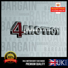 4MOTION BADGE EMBLEM Audi VW 4 Motion REAR BOOT R S line Golf Passat Polo Tiguan