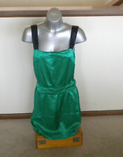 Very Very green satin cocktail party prom dress - size 10