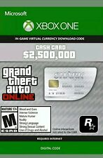 Xbox one grand theft auto online gta 5 requin virtual cash card $2,500,000