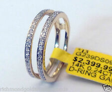 1/4ct Prong Set Solitaire Enhancer Diamonds Ring Guard Wrap 14k Yellow Gold NEW