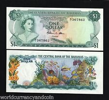 BAHAMAS $1 P35A 1974 QUEEN SHIP UNC GB UK CARIBBEAN CURRENCY MONEY BILL BANKNOTE
