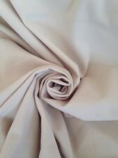 Vintage Retro 50's 60's Style Bri Brushed Nylon Quality Fabric In Natural