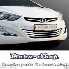 Chrome Bumper Radiator Grille Center Cover Tirm for 14~16 Hyundai Elantra 4DR