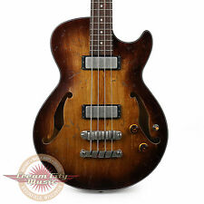 Brand New Ibanez AGBV200ATCL Semi-Hollow Body Bass Tobacco Burst Low Gloss