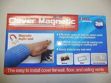 "6 Pack Vent Cover Clever Magnetic 8 X 15"" Redirect Easier Living Air Flow heatAC"