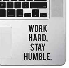 Work Hard Motivational Macbook Pro Air Keyboard Sticker iPad Decal Inspirational