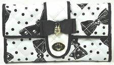 Iron Fist White/Black Bowed Over Large Wallet/Purse (Goth/Skull)