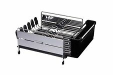 Master Class Large Deluxe Stainless Steel Dish Drainer Rack - 44.5 x 32 x... NEW