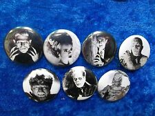 """1"""" pinback button set inspired by Universal monsters"""