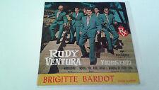 """RUDY VENTURA Y SU CONJUNTO """"BRIGITTE BARDOT"""" EP 7"""" SPANISH SINGLE G/A BE/A 1961"""