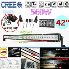 """560W CREE 5D LED Combo Work Light 42""""INCH Bar Driving Offroad Lamp 4WD 4X4 Truck"""