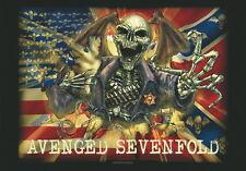 """AVENGED SEVENFOLD FLAGGE / FAHNE """"FLAG / SKULL"""" POSTERFLAG"""