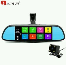 "Junsun 7"" Touch Car Multimedia DVR Camera Mirror GPS Bluetooth 16GB Android 4.4"