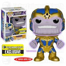 Funko Pop! Entertainment Earth Exclusive Glow THANOS figure Avengers / Guardians