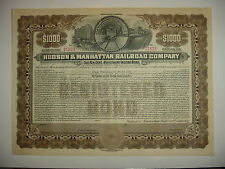 Hudson & Manhattan Railroad Company Bond Stock Certificate New York Jersey PATH
