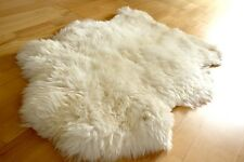 HUGE Genuine Merino Large White Ivory Sheepskin Fur Rug Carpet - BIG SIZE
