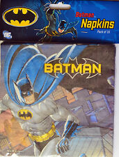 BATMAN PARTY SUPPLIES LUNCH NAPKINS PACK OF 16
