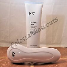Boots No7 Beautiful Skin Melting Gel Cleanser 5oz Normal/Dry with Face Brush NEW