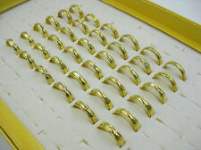 Wholesale Lots Jewelry resale 15pcs Arc Gold Stainless Steel Faver Rings J23