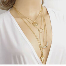 Free Shipping Ladies Jewelry Crystal Chain Chunky Statement Bib Pendant Necklace