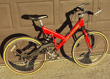 Vintage Cannondale Super V 700 Full Suspension Mountain Bike Size Medium M Red