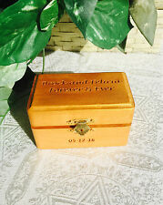 Personalized Wood Etched Trinket / Jewelry Box. Makes Great Wedding/Shower Gift